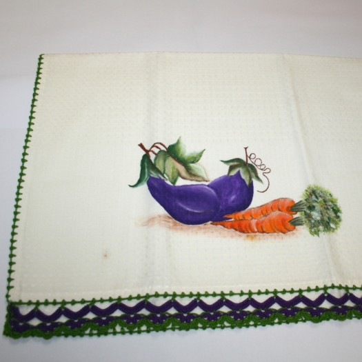 Hand-Painted Kitchen Cloth