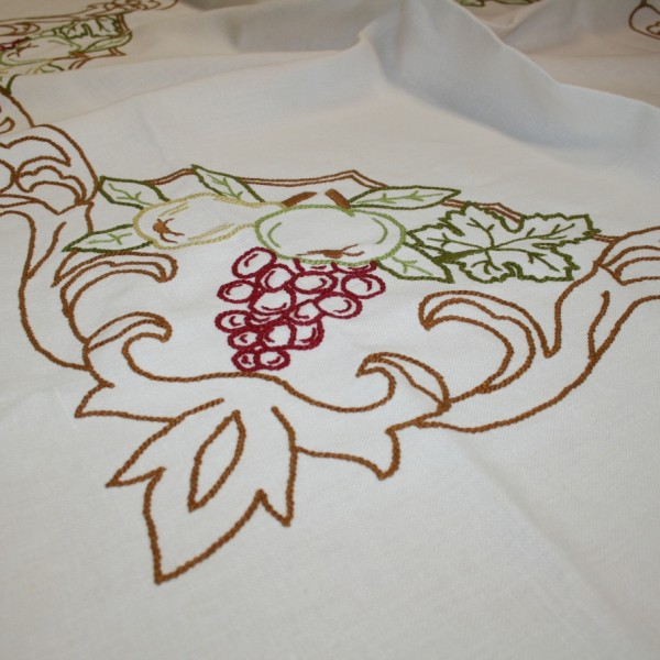 Hand Embroidered Linen Towel
